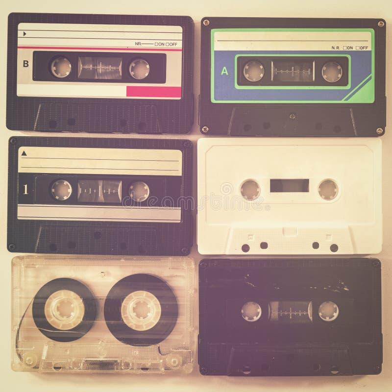 Rétro bande de cassette sonore image stock