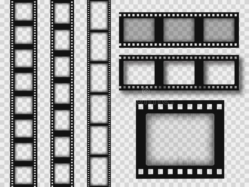 r?tro bande de film de 35mm illustration de vecteur