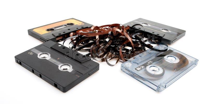 Rétro bandes de cassette sonore images libres de droits