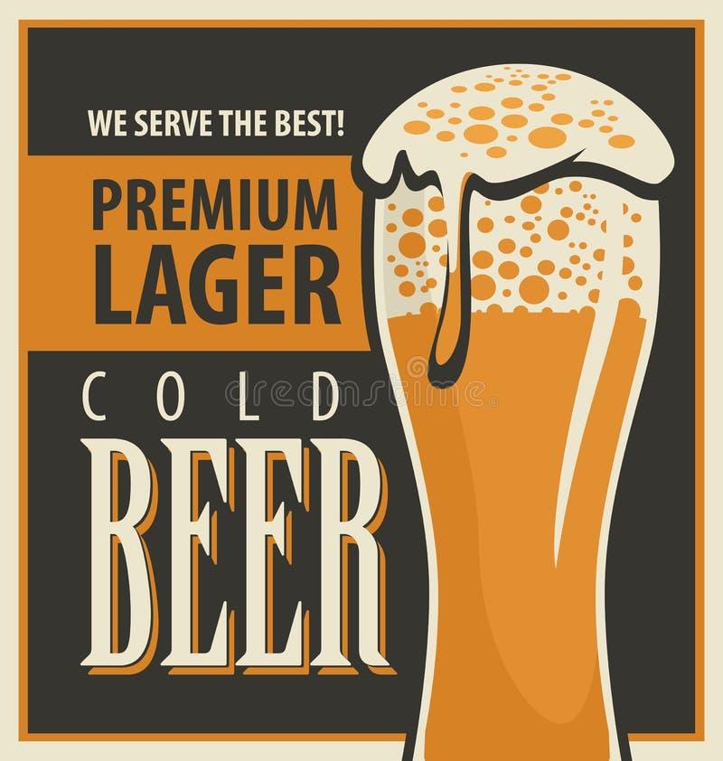Rétro bière illustration de vecteur