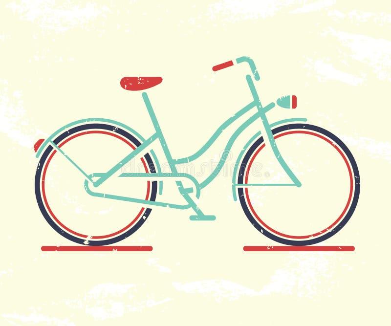 Rétro bicyclette illustration libre de droits