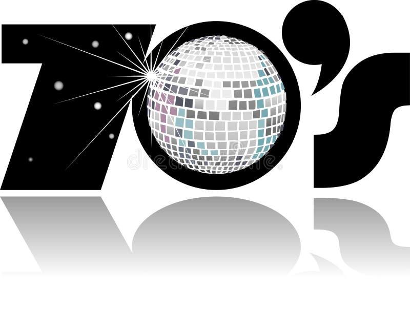 Rétro bille de disco d'années '70/ENV illustration stock