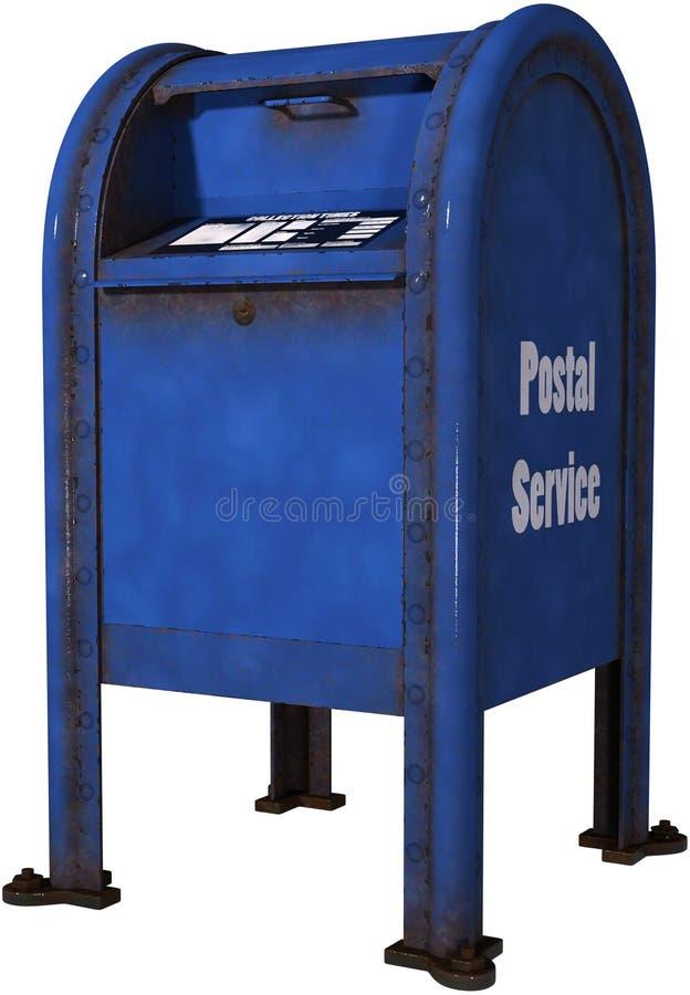 Rétro boîte aux lettres de service postal d'isolement image stock