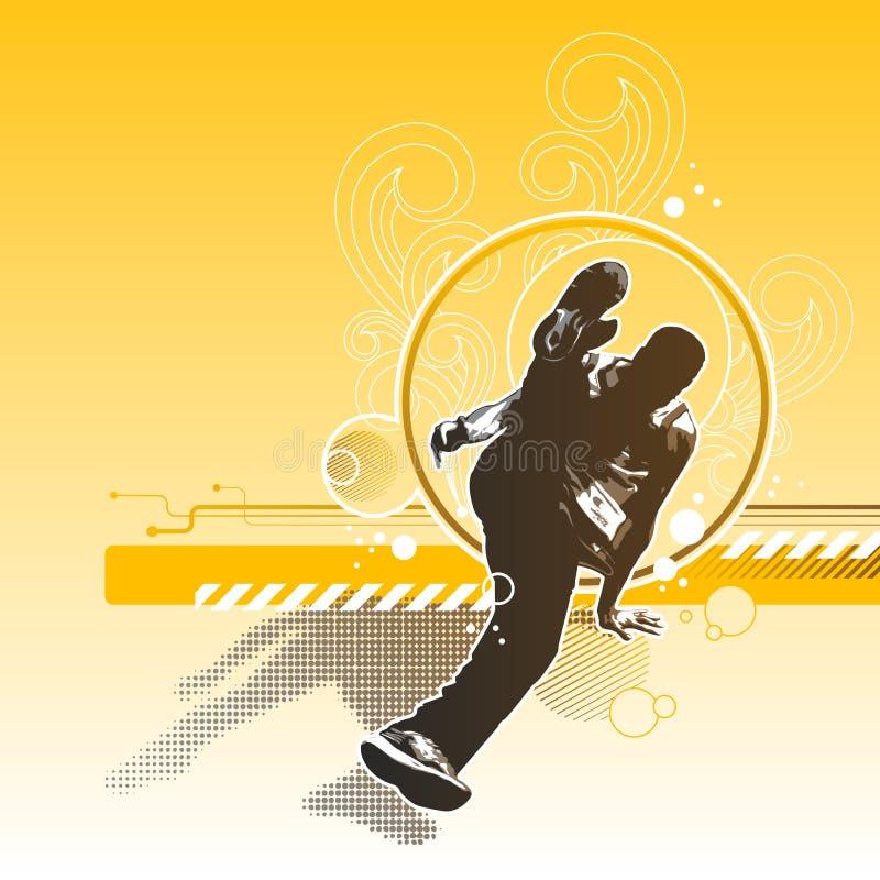 Rétro breakdance illustration libre de droits