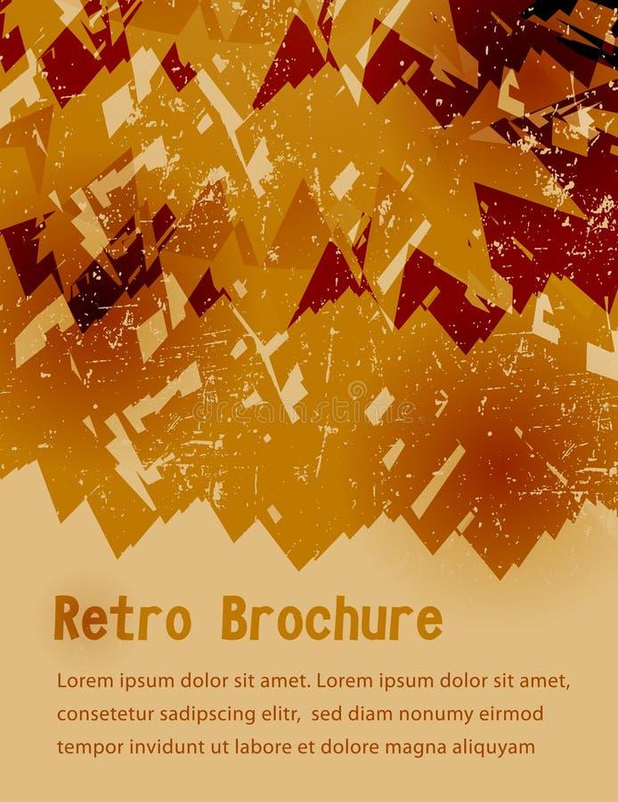 Rétro brochure grunge orange illustration de vecteur