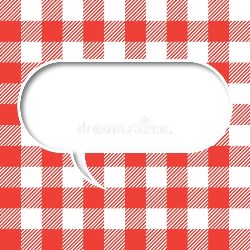 Rétro bulle de la parole de texture de nappe illustration stock