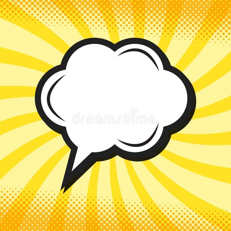 Rétro bulle de pensée de la parole dans le style comique d'art de bruit illustration de vecteur