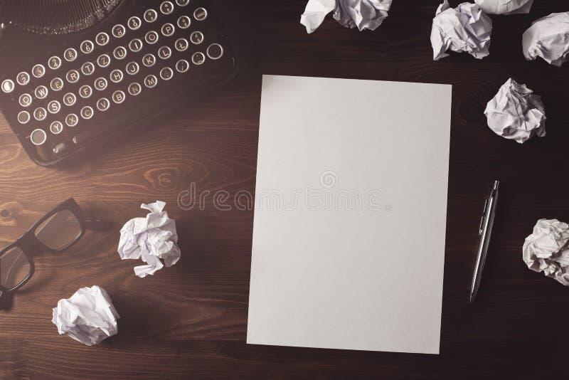 Rétro bureau d'auteur ou de journaliste photo stock