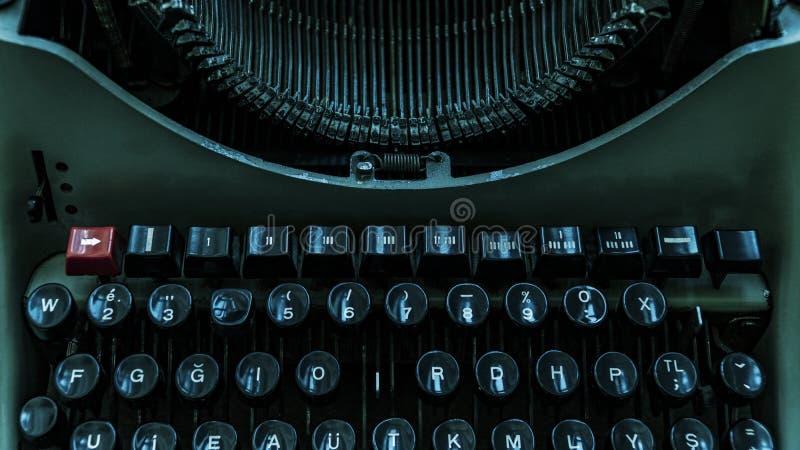 Rétro bureau d'auteurs de machine à écrire images libres de droits