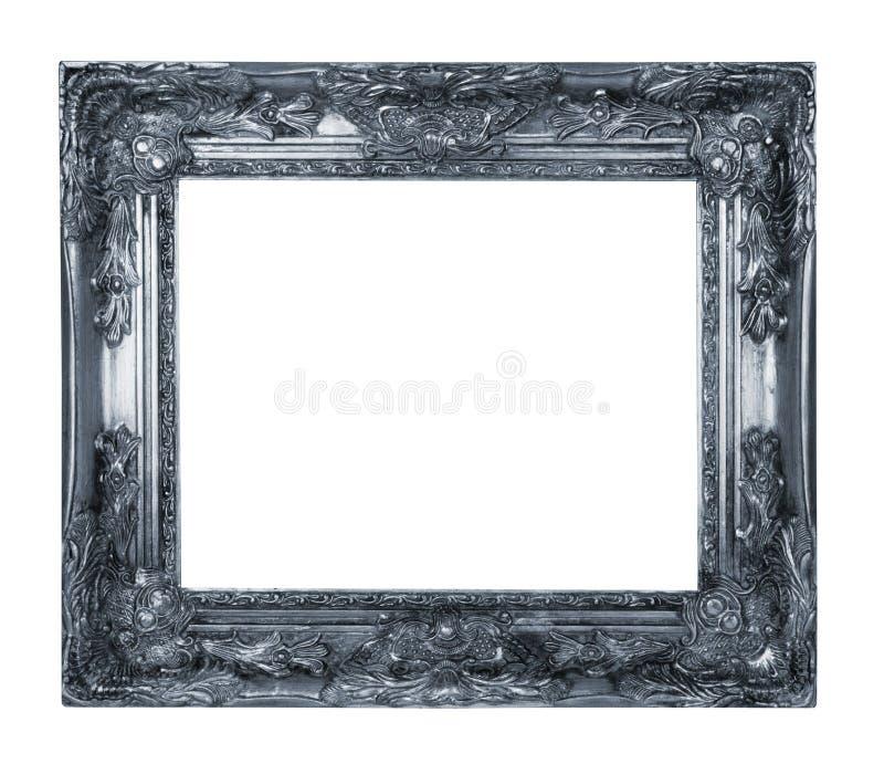 Cadre argenté photographie stock