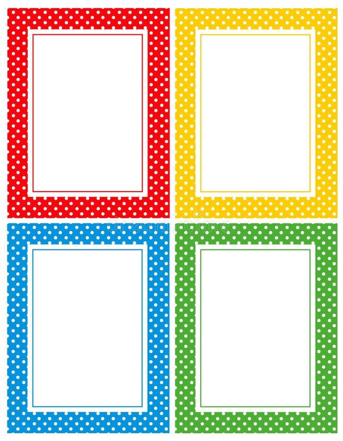 Rétro cadre de points de polka illustration stock
