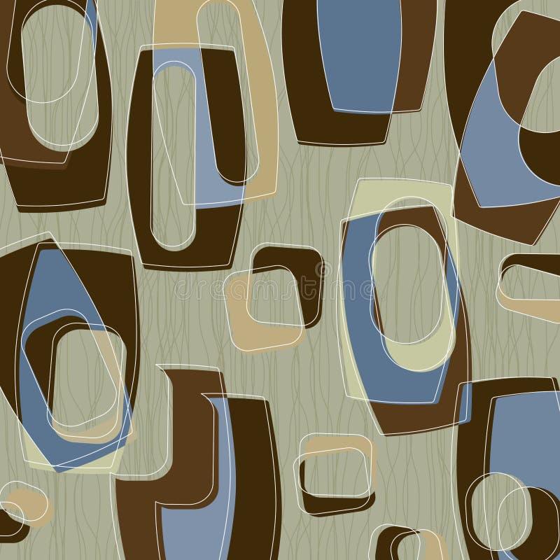 Rétro cadres élégants bleus (Vecto illustration stock