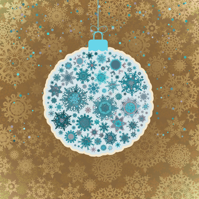 Rétro calibre - belle boule de Noël ENV 10 illustration stock