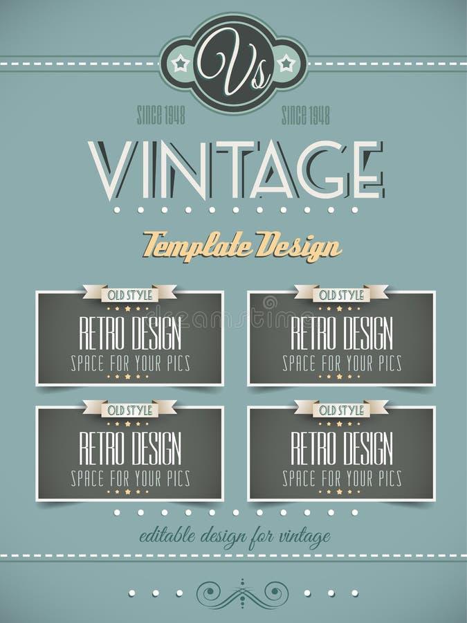 Rétro calibre de page de vintage pour des couvertures illustration de vecteur