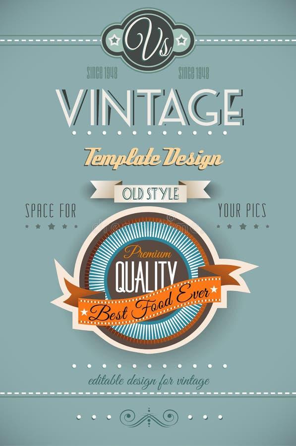 Rétro calibre de page de vintage pour un grand choix de buts illustration de vecteur