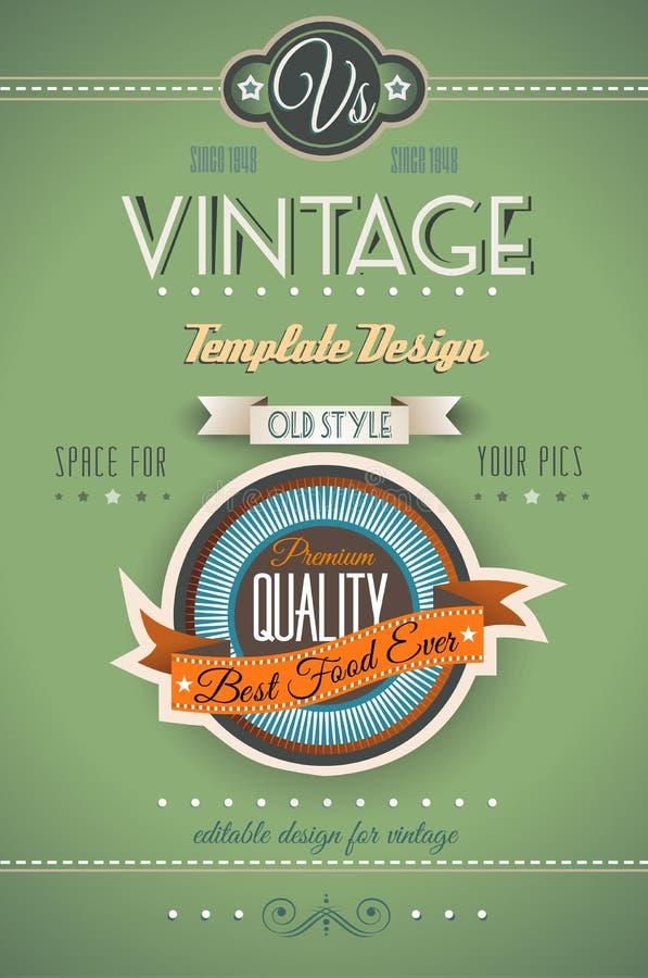 Rétro calibre de page de vintage pour un grand choix de buts : illustration de vecteur