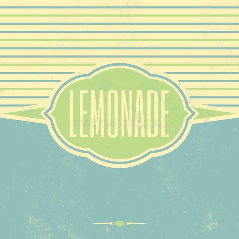 Rétro calibre de vintage de limonade illustration libre de droits