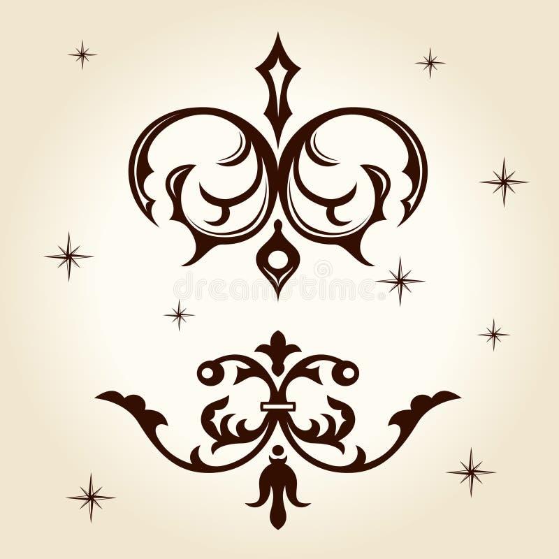 Rétro calligraph d'ornement illustration libre de droits