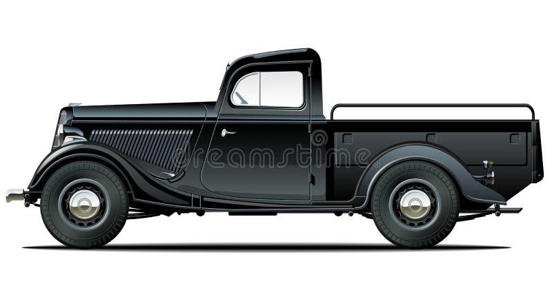 Rétro camionnette de livraison de vecteur illustration de vecteur