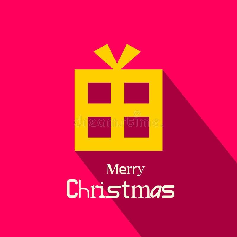Rétro carte de Joyeux Noël de vecteur illustration libre de droits