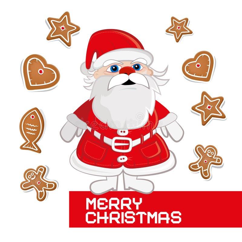Rétro carte de Noël de vecteur illustration libre de droits