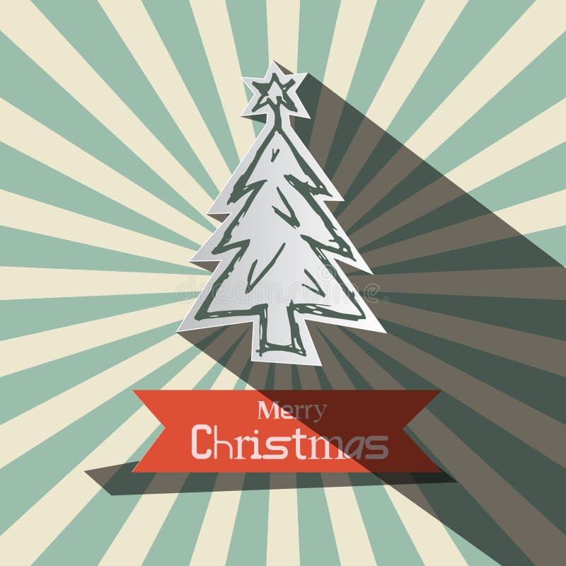 Rétro carte de vecteur de Noël illustration de vecteur