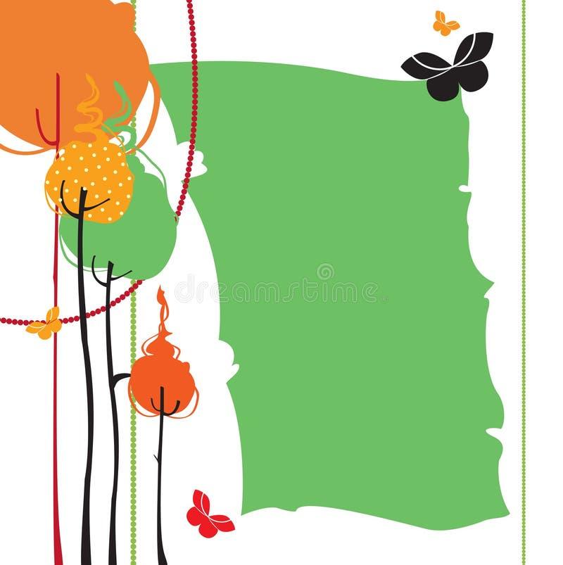 Rétro carte de voeux illustration libre de droits