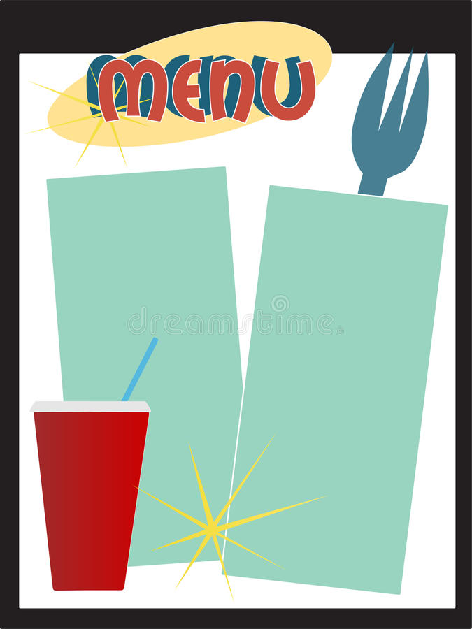 Rétro carte de wagon-restaurant illustration stock