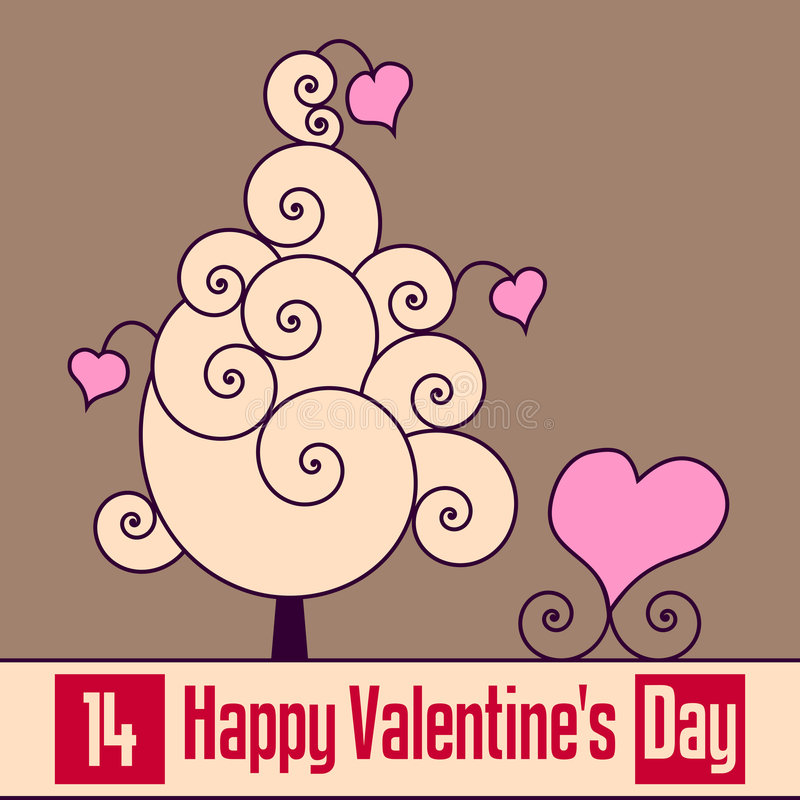 Rétro carte du jour de Valentine [2] illustration stock