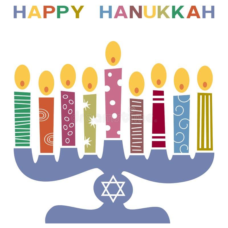 Rétro carte heureuse de Hanukkah [3] illustration libre de droits
