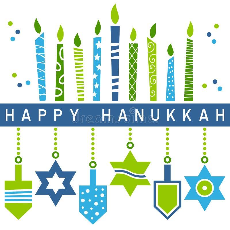 Rétro carte heureuse de Hanukkah [5] illustration libre de droits