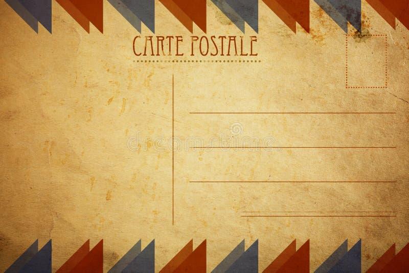 Rétro carte postale photographie stock