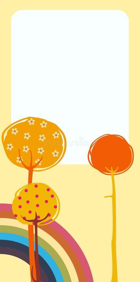 Rétro cartes de voeux illustration stock