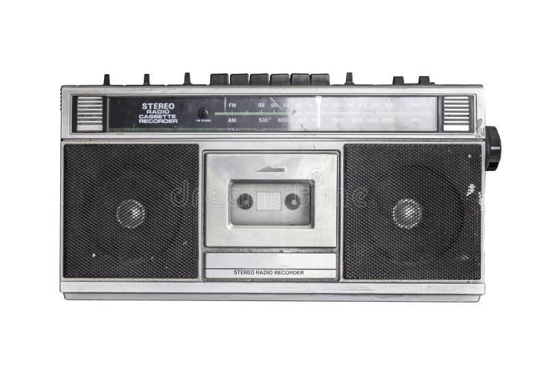 Rétro cassette par radio photos libres de droits