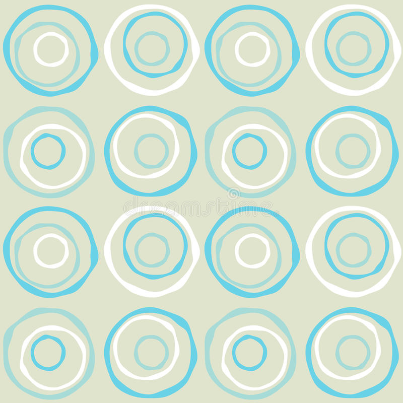 Rétro cercles sans joint illustration de vecteur