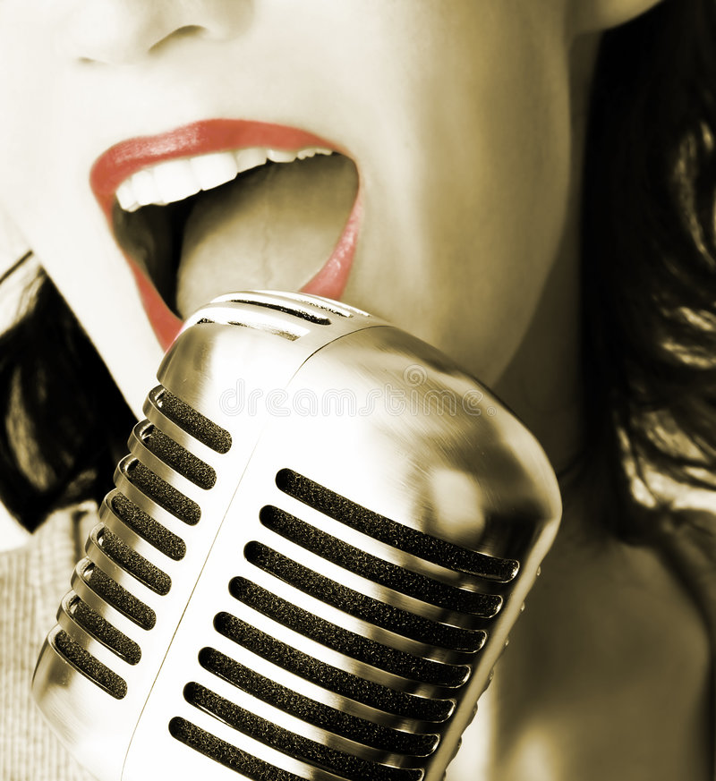 Rétro chanteur photos libres de droits