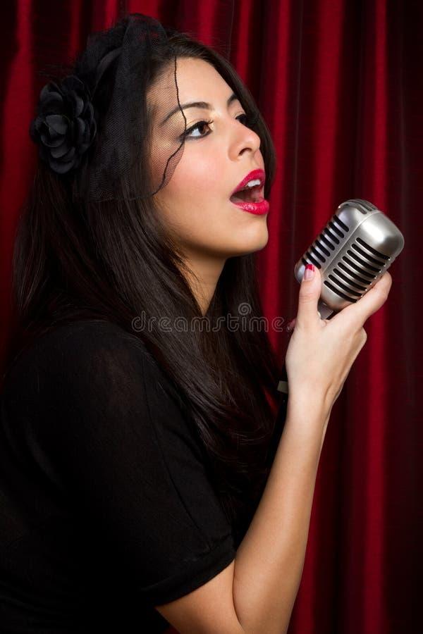 Rétro chanteur images stock