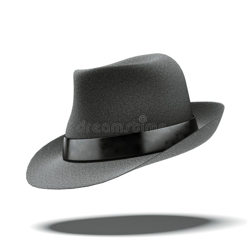 Rétro chapeau noir illustration stock