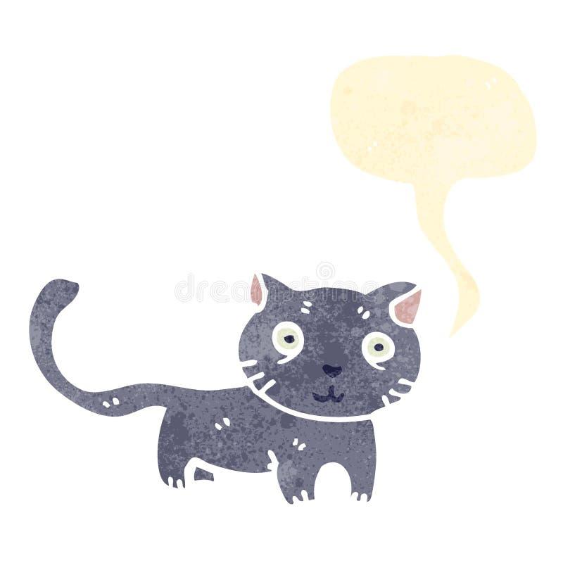 rétro chat de bande dessinée illustration de vecteur