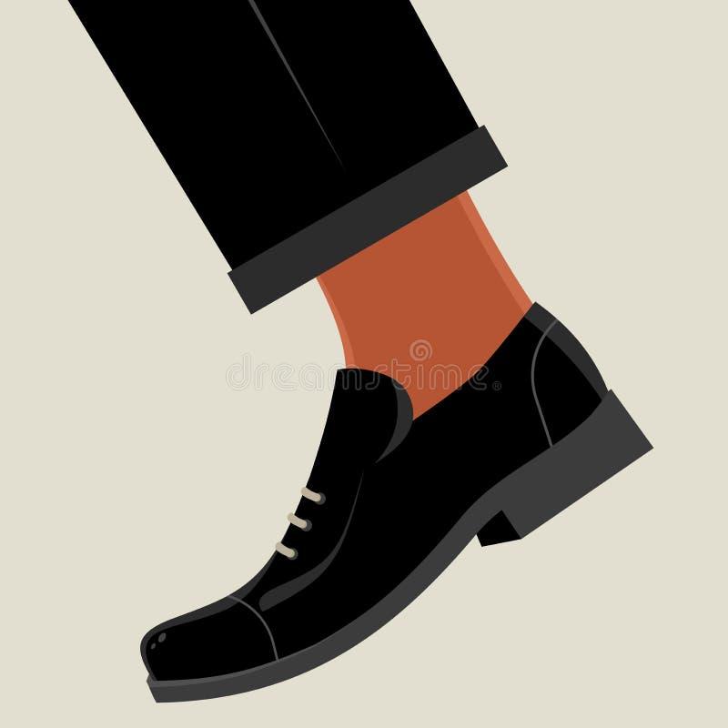 Rétro chaussure de bande dessinée illustration libre de droits