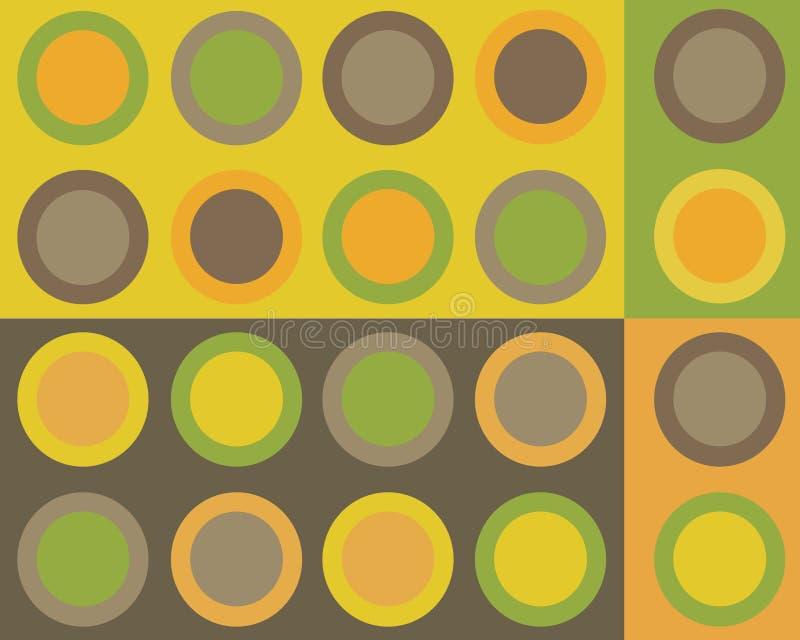 Rétro collage de cercles illustration stock