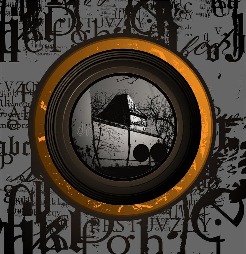 Rétro composition légère intérieure d'abstrait illustration stock