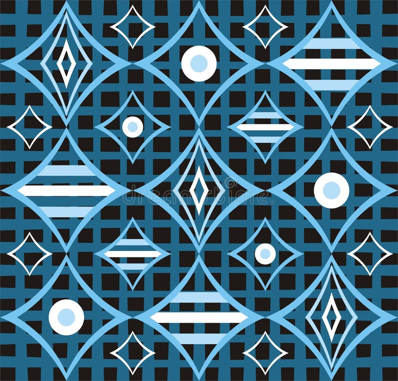 Rétro conception bleue abstraite illustration stock