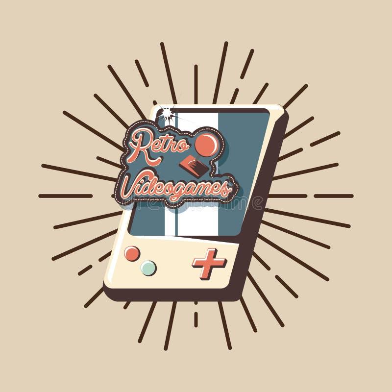 Rétro conception de jeu vidéo illustration de vecteur