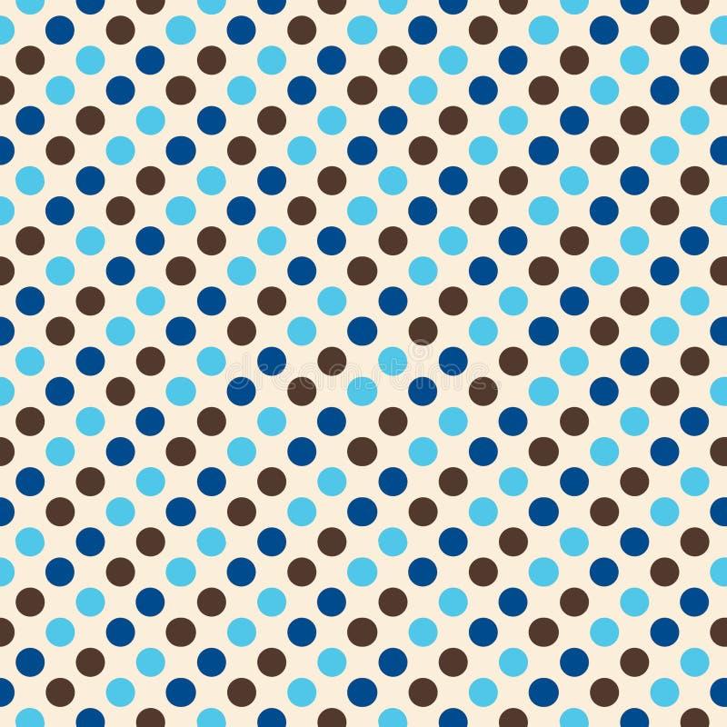 Rétro conception de point de polka illustration de vecteur