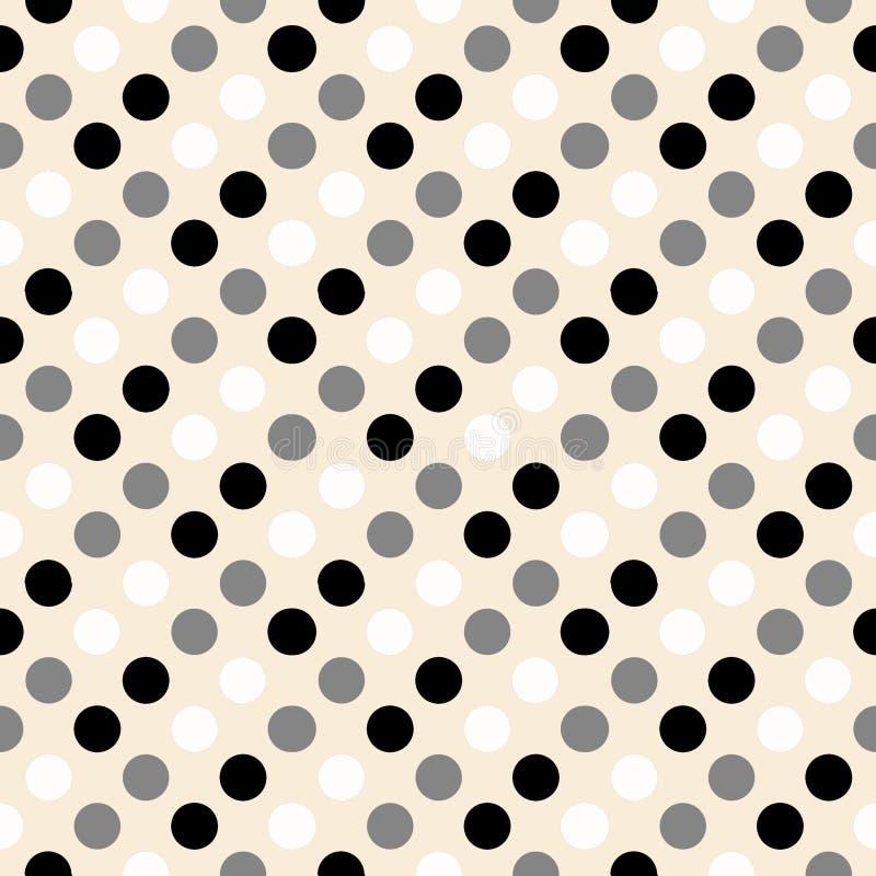Rétro conception de point de polka illustration libre de droits