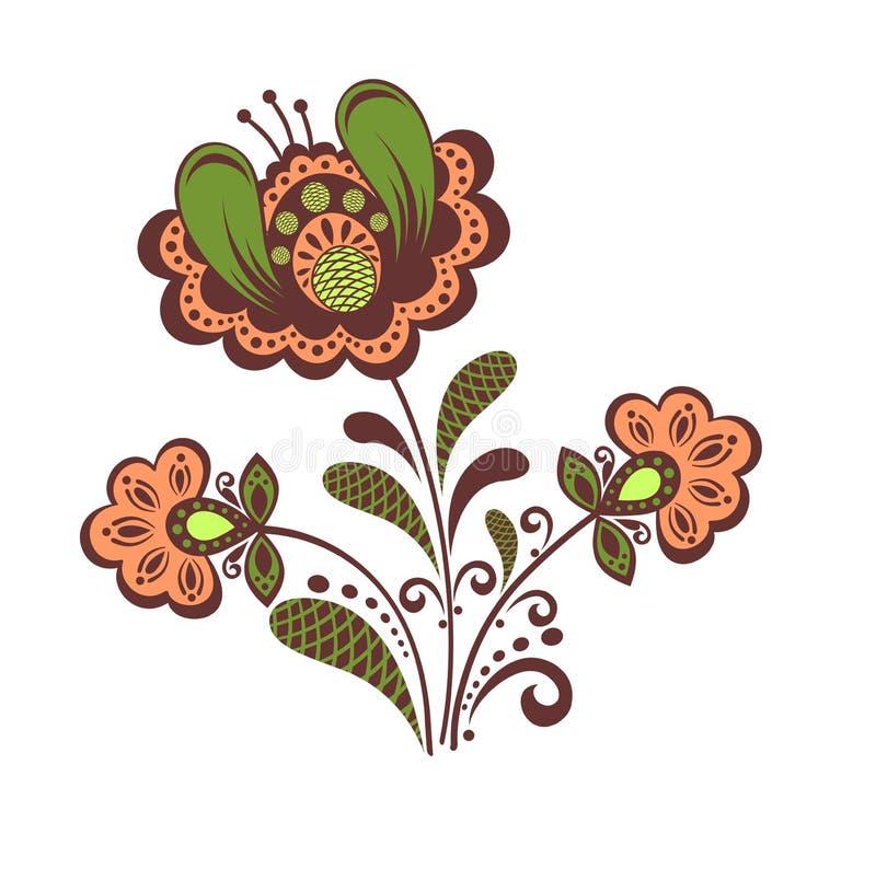 Rétro conception florale illustration de vecteur