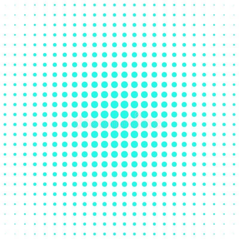 Rétro conception tramée de fond de modèle de point de polka illustration de vecteur