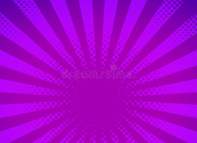 Rétro conception tramée pointillée de bruit par fond comique illustration de vecteur