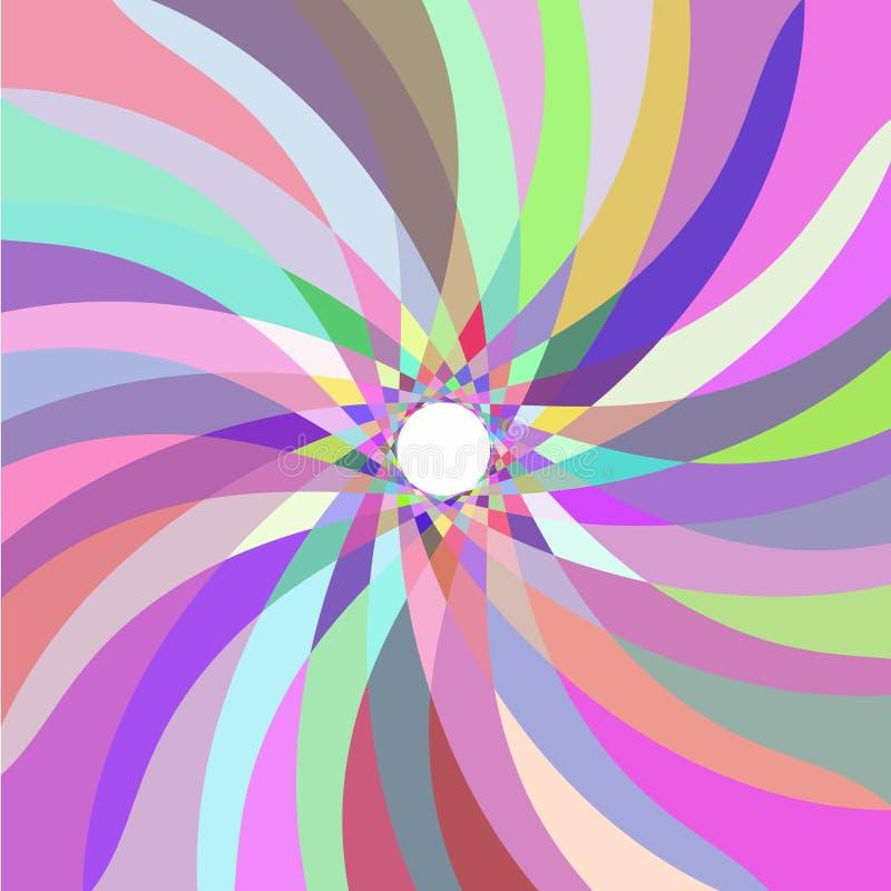Rétro configuration abstraite multicolore illustration libre de droits